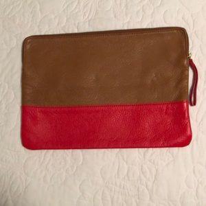 color block clutch